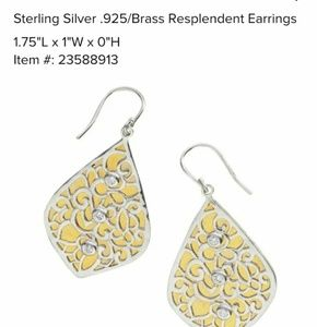 NIB Silpada Resplendent earrings